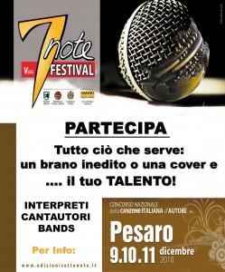 volantino 7note festival