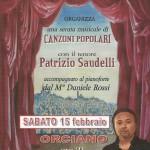 """15 FEBBRAIO  2014 ORCIANO di PESARO """"CANZONI POPOLARI"""""""