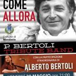 ANCORA COME ALLORA ….29 MAGGIO H. 21 – MONDAVIO presentazione evento in diretta telefonica Alberto Bertoli  e da studio Roberto Gramolini