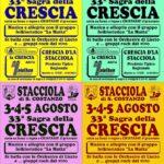 33^ sagra della CRESCIA  3- 4- 5 Agosto – Stacciola di San Costanzo intervista Nicola GAGGI