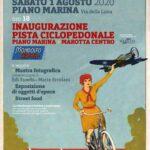 Sabato 1° AGOSTO  Piano Marina h. 18 inaugurazione PISTA CICLOPEDONALE  e mostra fotografica